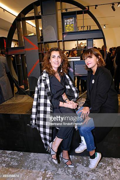 Mademoiselle Agnes Boulard and Actress Emma de Caunes attend the 'New American Art' Exhibition of Artists Matthew Day Jackson and Rashid Johnson...