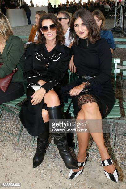 Mademoiselle Agnes Boulard and Geraldine Nakache attend the Nina Ricci show as part of the Paris Fashion Week Womenswear Spring/Summer 2018 on...
