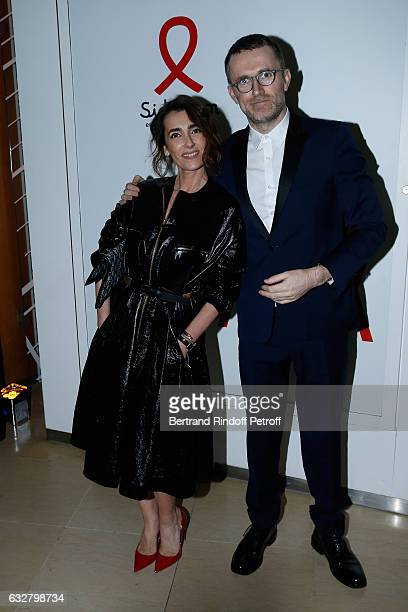 Mademoiselle Agnes Boulard and guest attend the Sidaction Gala Dinner 2017 Haute Couture Spring Summer 2017 show as part of Paris Fashion Week on...