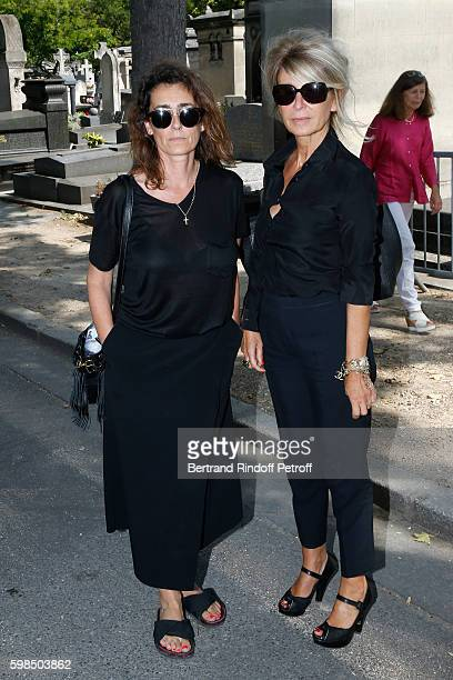 Mademoiselle Agnes Boulard and journalist AnneFlorence Schmitt attend the Designer Sonia Rykiel's Funerals at Cimetiere du Montparnasse on September...