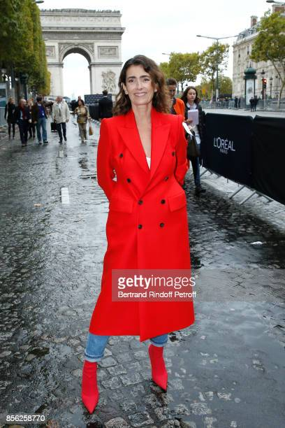 Mademoiselle Agnes Boulard attends 'Le Defile L'Oreal Paris show' as part of the Paris Fashion Week Womenswear Spring/Summer 2018 on October 1 2017...