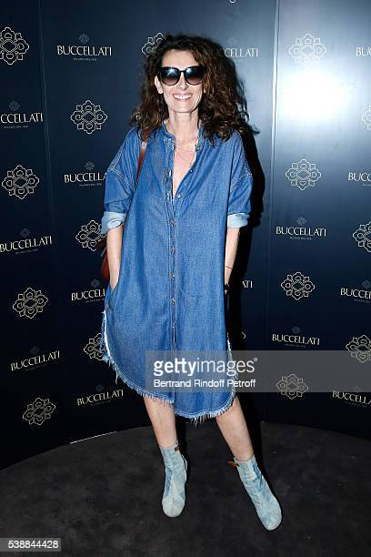 Mademoiselle Agnes Boulard attends the Opening of the Boutique Buccellati situated 1 Rue De La Paix in Paris on June 8 2016 in Paris France