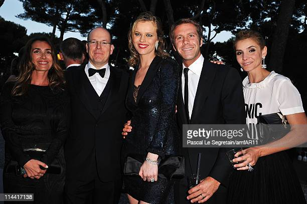 Mademoiselle Agnes Prince Albert of Monaco Eva Herzigova Italian Prince of Venice and Piedmont Emmanuel de Savoie and wife Clotilde Courau attend...