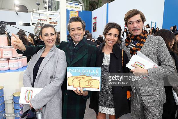 Mademoiselle Agnes Vincent Dare Elodie Bouchez and Elie Top attend the Chanel show as part of the Paris Fashion Week Womenswear Fall/Winter 20142015...