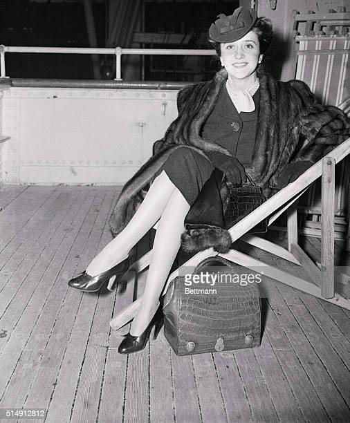 Mademoiselle Antenor Patino the former Princess Christina Bourbon and daughterinlaw of Simon Patino the Bolivian tin plate king arrived here from...