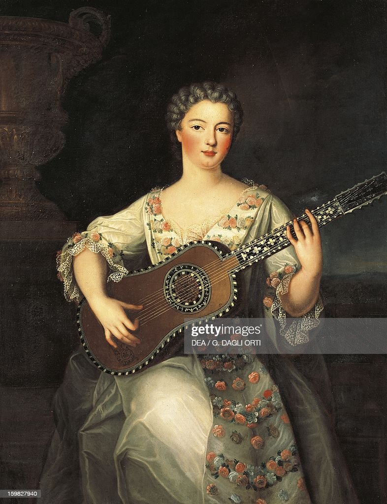 mademoiselle de charolais playing the guitar pictures getty mademoiselle de charolais playing the guitar 18th century tours museacutee des