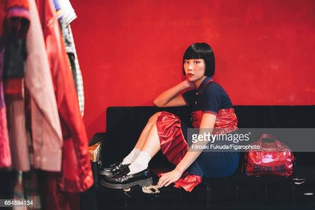 Mademoiselle Yulia DJ composer jeweler fashion designer and Jeremy Scott's model muse is photographed for Madame Figaro on October 17 2016 in Tokyo...