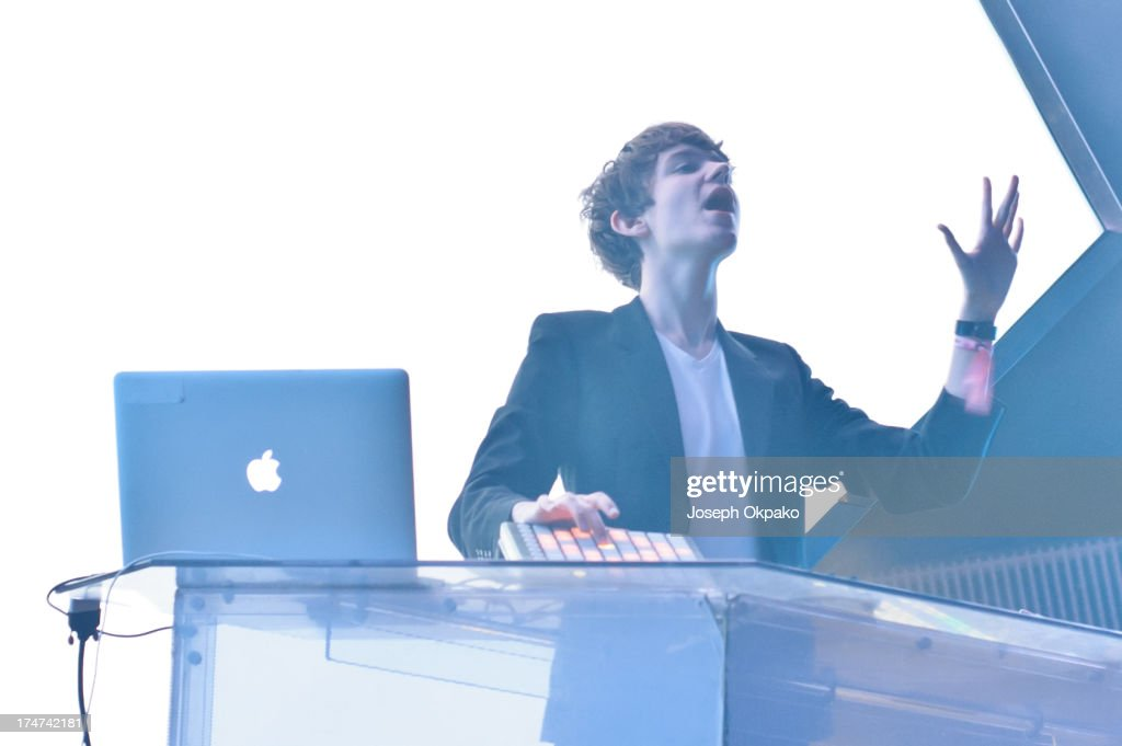 Madeon performs at Day 2 of Global Gathering at Long Marston Airfield on July 27, 2013 in Stratford-upon-Avon, England.
