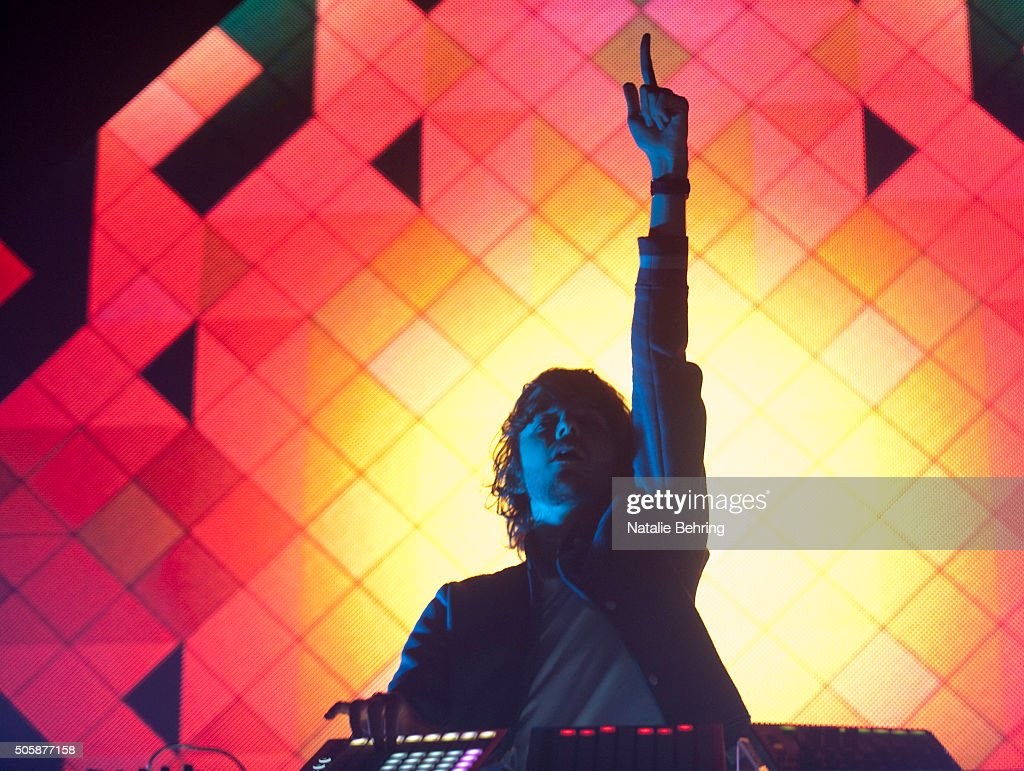 DJ <a gi-track='captionPersonalityLinkClicked' href=/galleries/search?phrase=Madeon&family=editorial&specificpeople=9131513 ng-click='$event.stopPropagation()'>Madeon</a> performs at the Roseland Theater January 19, 2016 in Portland, Oregon.