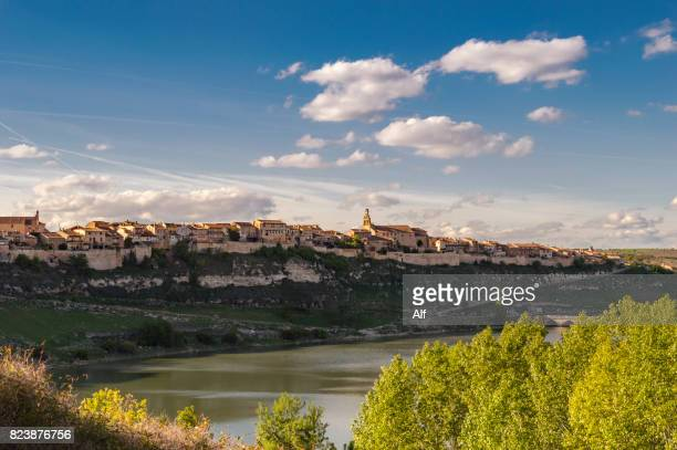 Maderuelo medieval village and the swamp of Linares, Segovia, Spain