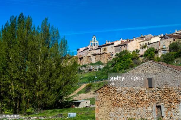 Maderuelo medieval village overview, Segovia, Spain