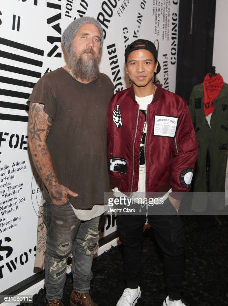 Madeworn founder Blaine Halvorson and Revolve Founder Michael Mente attend Madeworn x Roc96 PopUp Event at on May 31 2017 in Los Angeles California