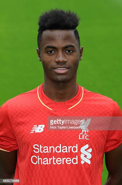Madger Gomes of Liverpool poses for a portrait at the Liverpool Football Club Academy on July 28 2015 in Kirkby England
