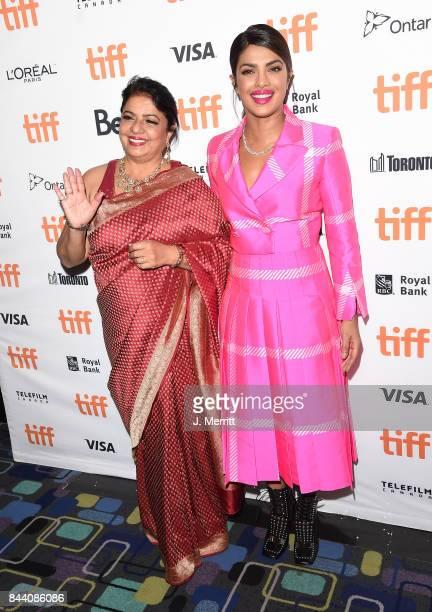 Madhu Chopra and Priyanka Chopra attend the 'Pahuna The Little Visitors' premiere during the 2017 Toronto International Film Festival at Scotiabank...