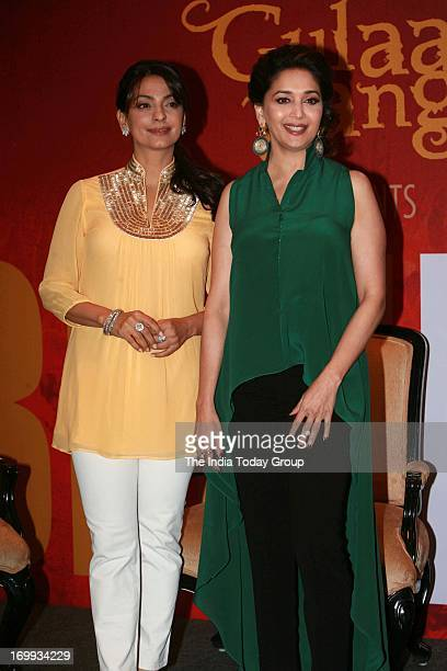 Madhuri Dixit and Juhi Chawla at a campaign celebrating ordinary women of India in Mumbai on 4th June 2013