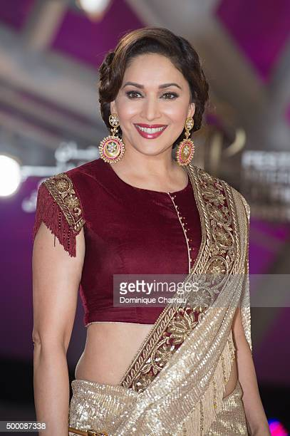 Madhuri Dixit attends the ' MR Holmes premiere during the15th Marrakech International Film Festival on December 5 2015 in Marrakech Morocco
