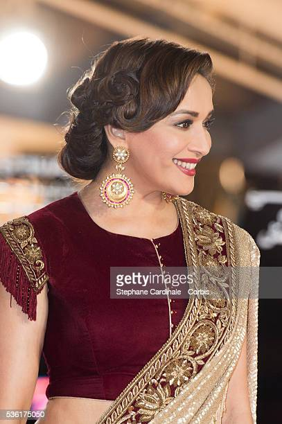 Madhuri Dixit attends the Premiere of Mr Holmes during the 15th Marrakech International Film Festival on December 5 in Marrakech Morocco