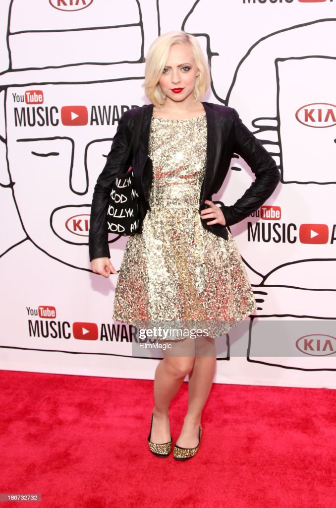 Madilyn Bailey attends the YouTube Music Awards 2013 on November 3, 2013 in New York City.