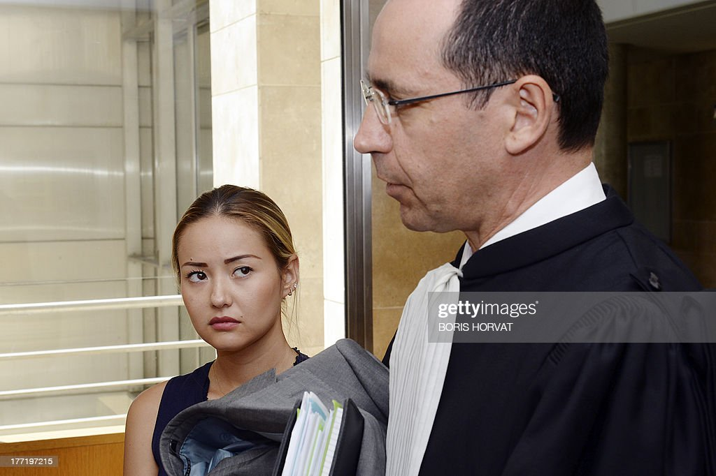 Madina Ablyazov, the daughter of dissident Kazakh oligarch Mukhtar Ablyazov, stands with her lawyer Bruno Rebstock, in Aix-en-Provence courthouse, Southern France, on August 22, 2013. Dissident Kazakh oligarch Mukhtar Ablyazov, accused at home of embezzling more than $5 billion, was told by a French judge on Thursday that he faced extradition, but his family vowed to fight an expulsion it said was politically motivated. The 50-year-old businessman, an outspoken critic of Kazakhstan's long-time leader Nursultan Nazarbayev, has been in custody in France since his arrest near the French Riviera resort of Cannes.