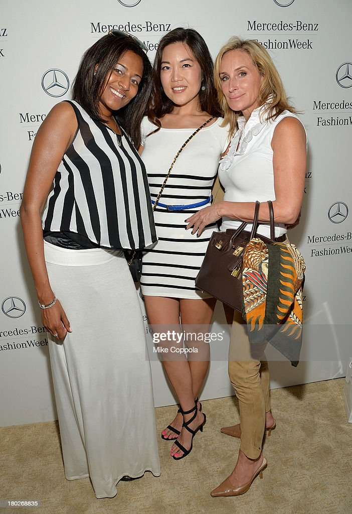 Madinah James, Cindy Bae and <a gi-track='captionPersonalityLinkClicked' href=/galleries/search?phrase=Sonja+Morgan&family=editorial&specificpeople=6346743 ng-click='$event.stopPropagation()'>Sonja Morgan</a> attend the Mercedes-Benz Star Lounge during Mercedes-Benz Fashion Week Spring 2014 on September 10, 2013 in New York City.