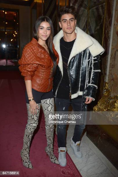 Madison Beer and Jack Gilinsky attend the Balmain show as part of the Paris Fashion Week Womenswear Fall/Winter 2017/2018 on March 2 2017 in Paris...