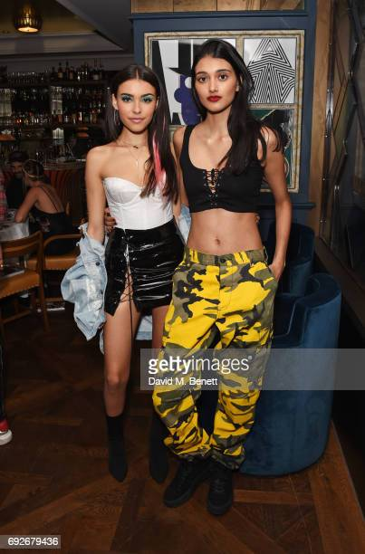 Madison Beer and Neelam Gill attend the Wonderland Summer Issue dinner hosted by Madison Beer at The Ivy Soho Brasserie on June 5 2017 in London...
