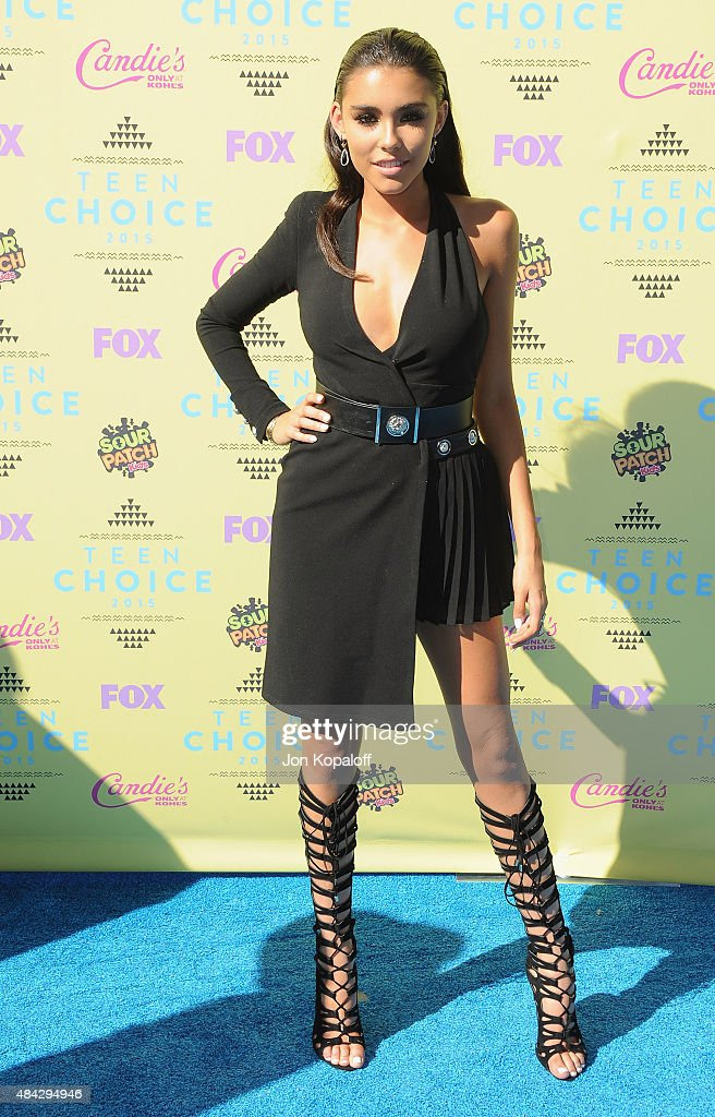 Madison Beer arrives at the Teen Choice Awards 2015 at Galen Center on August 16, 2015 in Los Angeles, California.