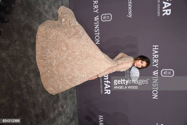 Madison Beer attends the 19th annual amfAR's New York Gala to kick off NY Fashion Week at Cipriani Wall Street on February 8 2017 in New York City /...