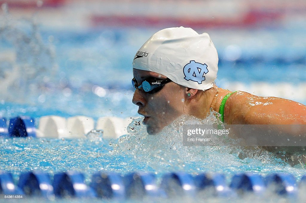 Madison Boswell competes in a preliminary heat of the Women's 200 Meter Butterfly during Day 4 of the 2016 U.S. Olympic Team Swimming Trials at CenturyLink Center on June 29, 2016 in Omaha, Nebraska.