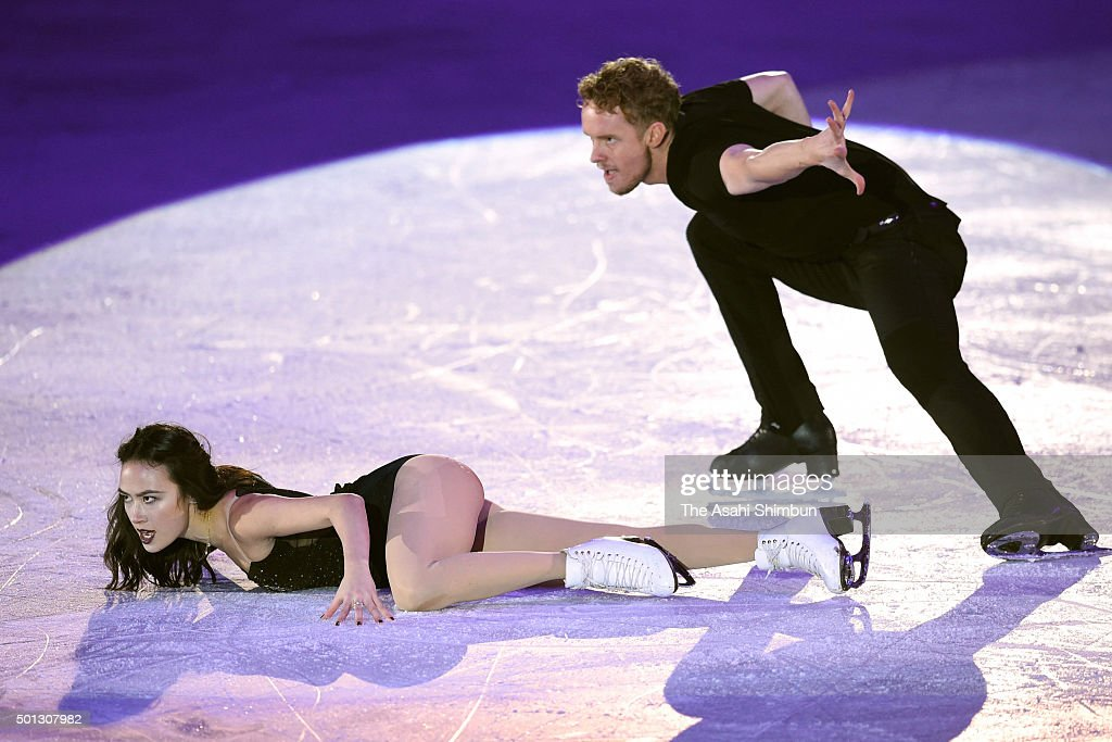 Madison Chock and Evan Bates of the United States perform at an exhibiton gala on day 4 of the ISU Junior Senior Grand Prix of Figure Skating Final...