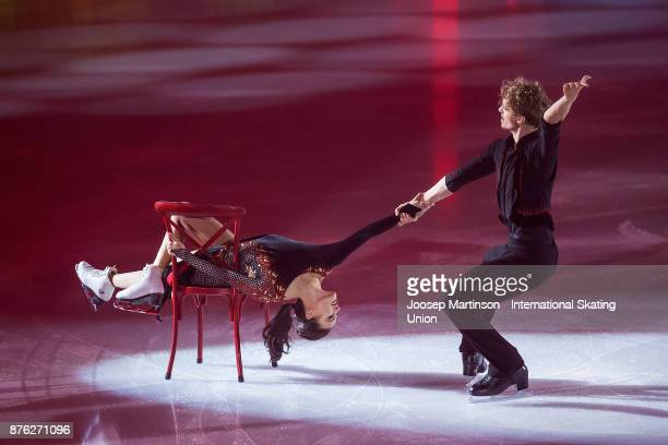 Madison Chock and Evan Bates of the United States perform in the Gala Exhibition during day three of the ISU Grand Prix of Figure Skating at Polesud...