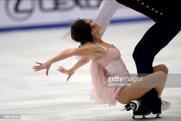 Madison Chock and Evan Bates of the US perform during their ice dance short dance event of the Cup of China ISU Grand Prix of Figure Skating in...
