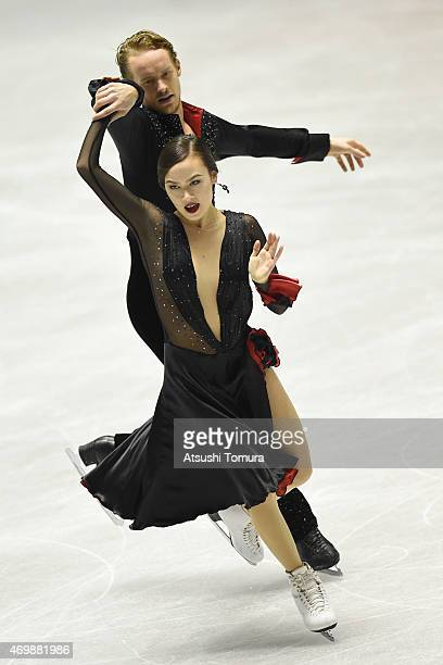 Madison Chock and Evan Bates of the USA compete in the Ice Dance short dance during the day one of the ISU World Team Trophy at Yoyogi National...