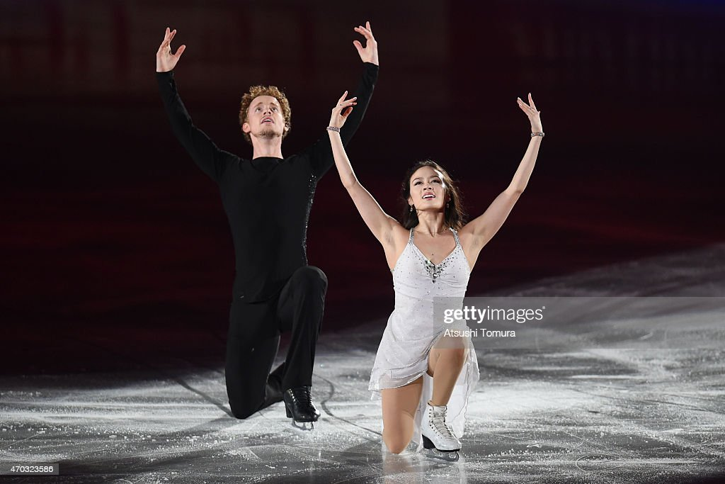 Madison Chock and Evan Bates of the USA perform their routine in the exhibition on the day four of the ISU World Team Trophy at Yoyogi National...