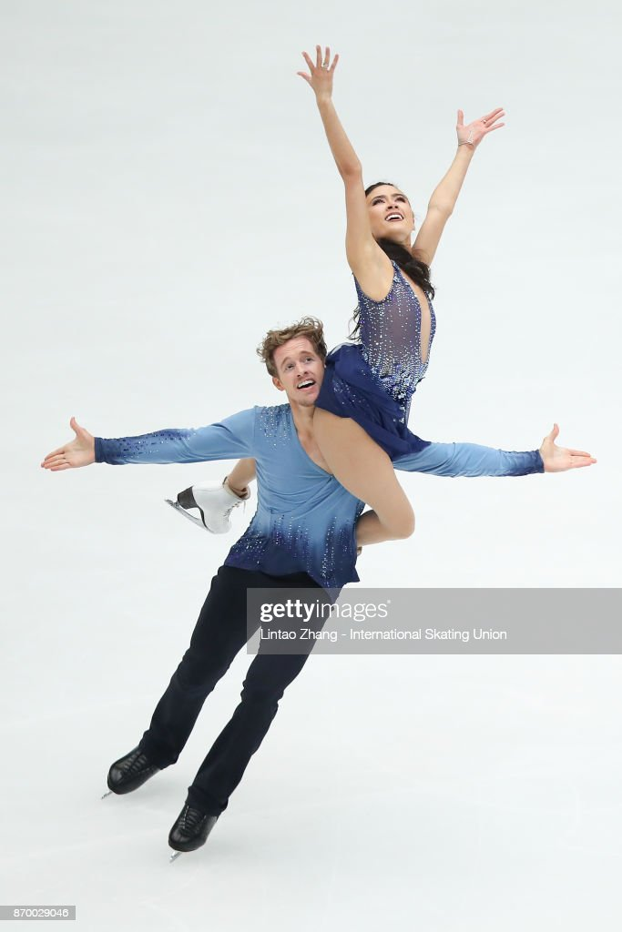 Madison Chock and Evan Bates of United States compete in the Ice Dance Free Dance on day two of Audi Cup of China ISU Grand Prix of Figure Skating 2017 at Beijing Capital Gymnasium on November 4, 2017 in Beijing, China.