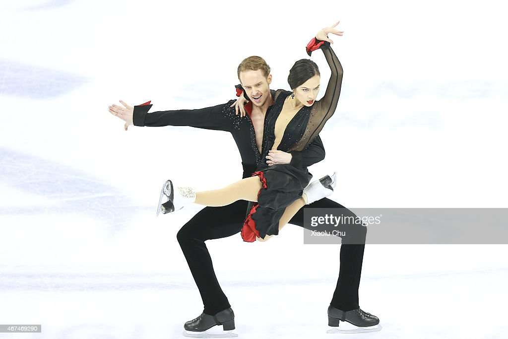 Madison Chock and Evan Bates of United States perform during the Ice Dance Short Dance on day one of the 2015 ISU World Figure Skating Championships...