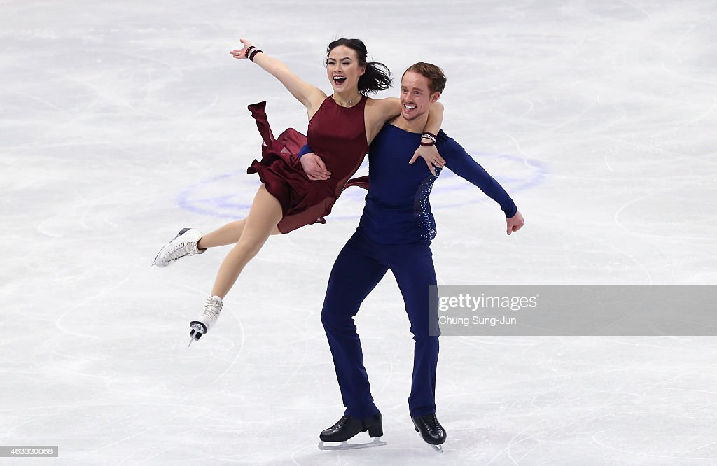 <a gi-track='captionPersonalityLinkClicked' href=/galleries/search?phrase=Madison+Chock&family=editorial&specificpeople=6471803 ng-click='$event.stopPropagation()'>Madison Chock</a> and <a gi-track='captionPersonalityLinkClicked' href=/galleries/search?phrase=Evan+Bates&family=editorial&specificpeople=4839407 ng-click='$event.stopPropagation()'>Evan Bates</a> of United States performs during the Ice Dance Free Dance on day two of the ISU Four Continents Figure Skating Championships 2015 at the Mokdong Ice Rink on February 13, 2015 in Seoul, South Korea.