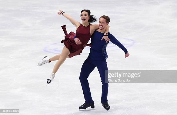 Madison Chock and Evan Bates of United States performs during the Ice Dance Free Dance on day two of the ISU Four Continents Figure Skating...