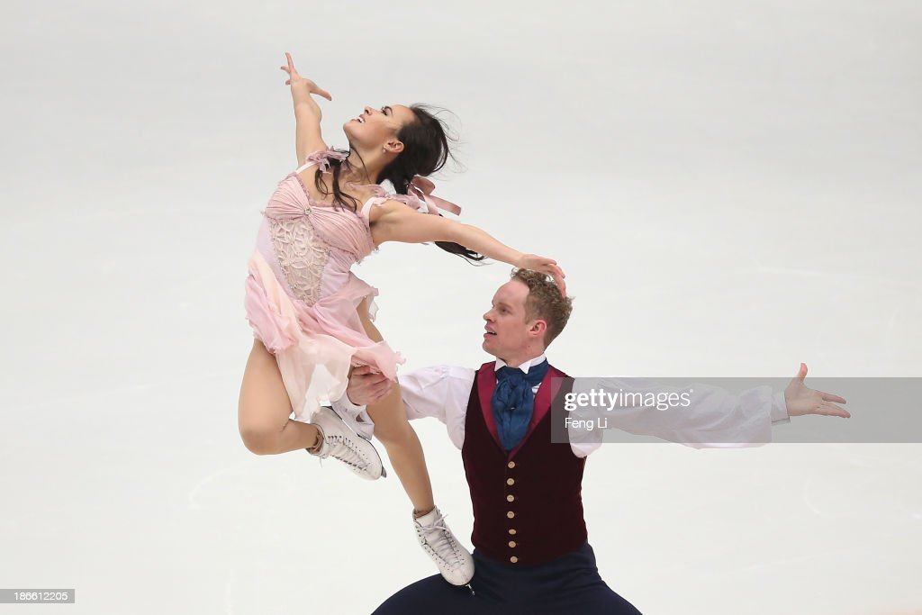 <a gi-track='captionPersonalityLinkClicked' href=/galleries/search?phrase=Madison+Chock&family=editorial&specificpeople=6471803 ng-click='$event.stopPropagation()'>Madison Chock</a> and <a gi-track='captionPersonalityLinkClicked' href=/galleries/search?phrase=Evan+Bates&family=editorial&specificpeople=4839407 ng-click='$event.stopPropagation()'>Evan Bates</a> of United States skate in the Ice Dance Free Dance during Lexus Cup of China ISU Grand Prix of Figure Skating 2013 at Beijing Capital Gymnasium on November 2, 2013 in Beijing, China.