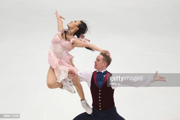 Madison Chock and Evan Bates of United States skate in the Ice Dance Free Dance during Lexus Cup of China ISU Grand Prix of Figure Skating 2013 at...