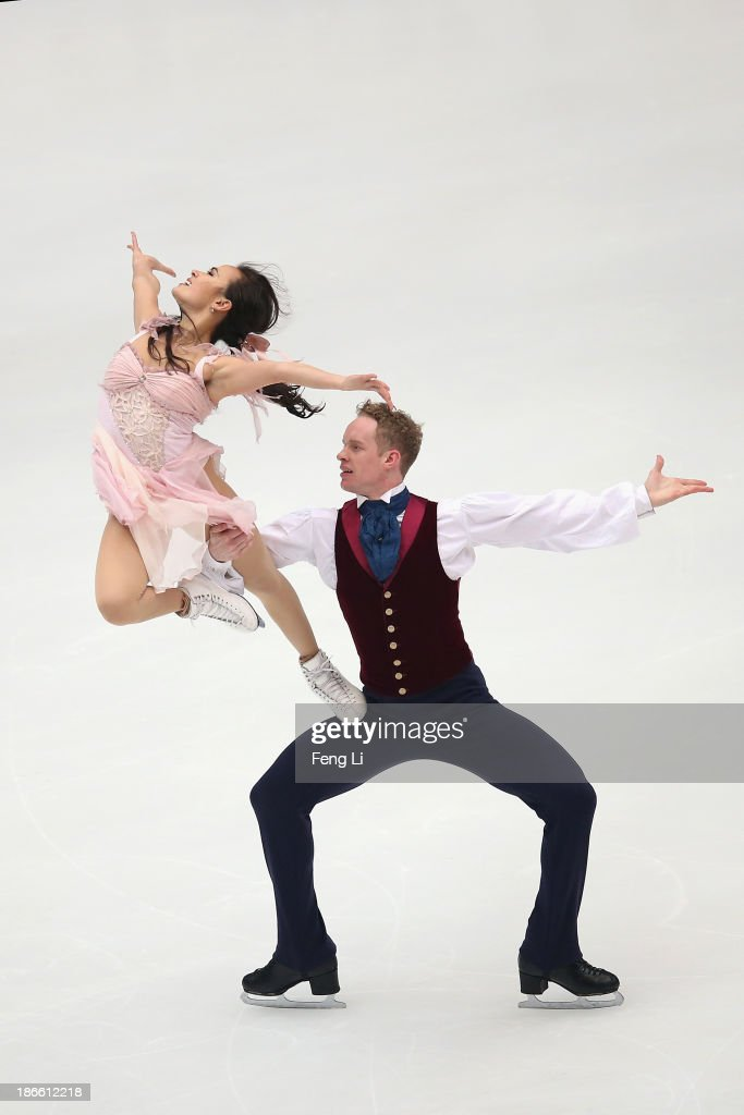 Madison Chock and Evan Bates of United States skate in the Ice Dance Free Dance during Lexus Cup of China ISU Grand Prix of Figure Skating 2013 at Beijing Capital Gymnasium on November 2, 2013 in Beijing, China.