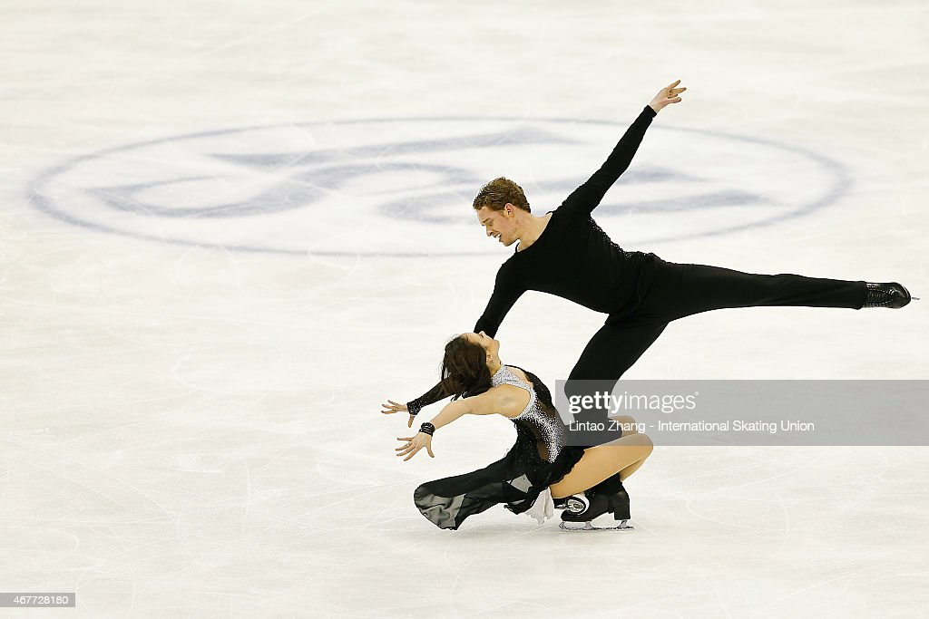 <a gi-track='captionPersonalityLinkClicked' href=/galleries/search?phrase=Madison+Chock&family=editorial&specificpeople=6471803 ng-click='$event.stopPropagation()'>Madison Chock</a> and <a gi-track='captionPersonalityLinkClicked' href=/galleries/search?phrase=Evan+Bates&family=editorial&specificpeople=4839407 ng-click='$event.stopPropagation()'>Evan Bates</a> of United Status perform during the Ice Dance-Free Dance on day three of the 2015 ISU World Figure Skating Championships at Shanghai Oriental Sports Center on March 27, 2015 in Shanghai, China.