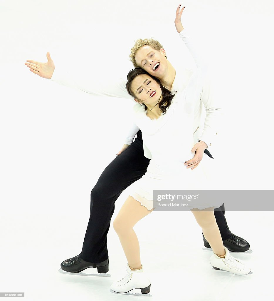 <a gi-track='captionPersonalityLinkClicked' href=/galleries/search?phrase=Madison+Chock&family=editorial&specificpeople=6471803 ng-click='$event.stopPropagation()'>Madison Chock</a> and <a gi-track='captionPersonalityLinkClicked' href=/galleries/search?phrase=Evan+Bates&family=editorial&specificpeople=4839407 ng-click='$event.stopPropagation()'>Evan Bates</a> of USA compete in the Ice Dance Free Dance during the 2013 ISU World Figure Skating Championships at Budweiser Gardens on March 16, 2013 in London, Canada.