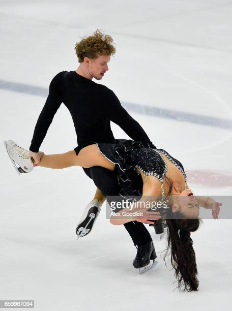 Madison Chock and Evan Bates perform for a crowd during the Team USA Media Summit demo event on September 25 2017 in Park City Utah