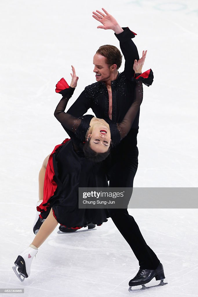 Madison Chock and Evans Bates of United States performs during the Ice Dance Short Dance on day one of the ISU Four Continents Figure Skating...