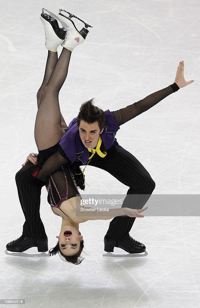 Madison Chock and Greg Zuerlein compete in the Championship Free Dance during the US Figure Skating Championships at the Greensboro Coliseum on...