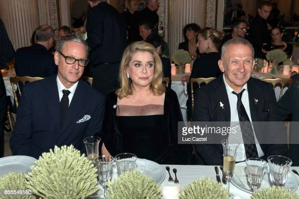 Madison Cox Catherine Deneuve and JeanPaul Gaultier attend the Opening Party at Yves Saint Laurent Museum as part of the Paris Fashion Week...