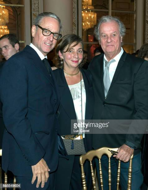 Madison Cox Nathalie Criniere and Jacques Grange attend the Opening Party at Yves Saint Laurent Museum as part of the Paris Fashion Week Womenswear...