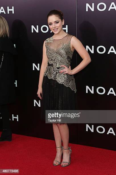 Madison Davenport attends the 'Noah' premiere at Ziegfeld Theatre on March 26 2014 in New York City
