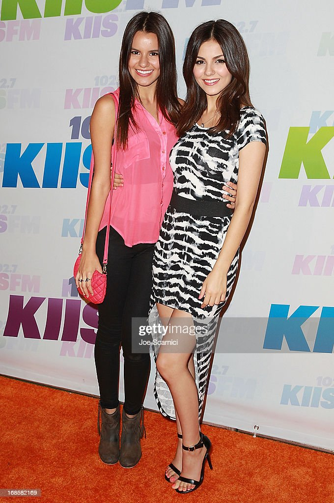 Madison Grace Reed (L) and actress <a gi-track='captionPersonalityLinkClicked' href=/galleries/search?phrase=Victoria+Justice&family=editorial&specificpeople=569887 ng-click='$event.stopPropagation()'>Victoria Justice</a> arrive at 102.7 KIIS FM's Wango Tango 2013 at The Home Depot Center on May 11, 2013 in Carson, California.